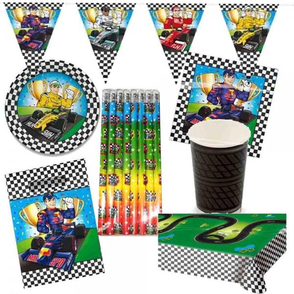 Partyset Formel 1 für 8 Kinder