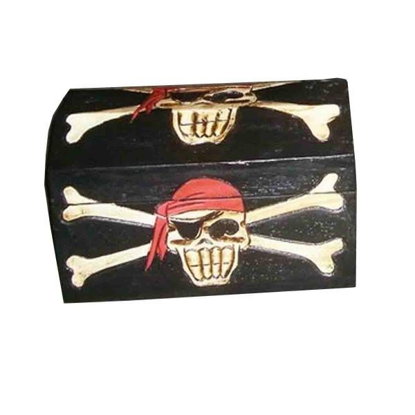 Totenkopf-Schatzkiste aus Holz