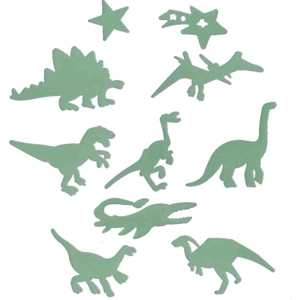 Fluoereszierende Dinosaurier