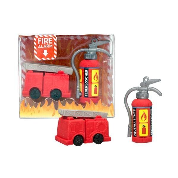 Radiergummi Feuerwehr mit Feuerlöscher