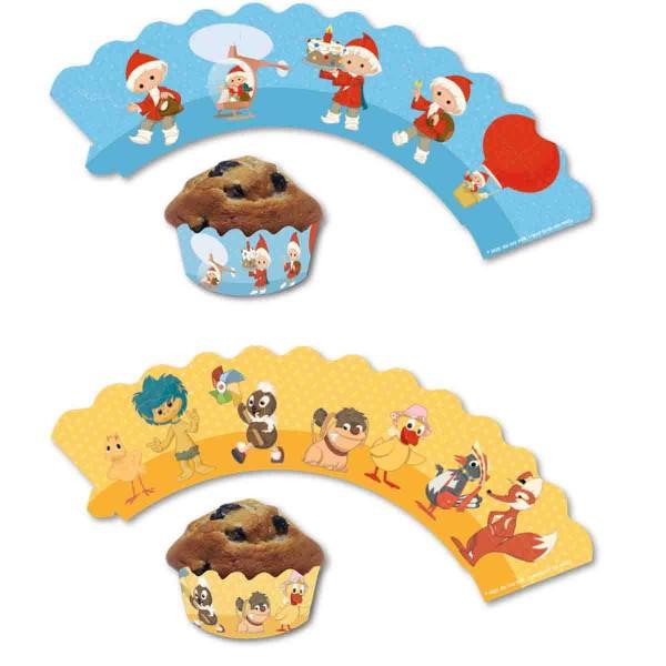 12 Muffinbanderolen für Sandmännchen Muffins