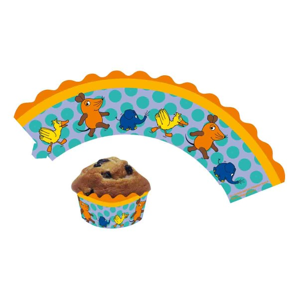 Süße Cupcake-Banderolen zum Thema Die Maus