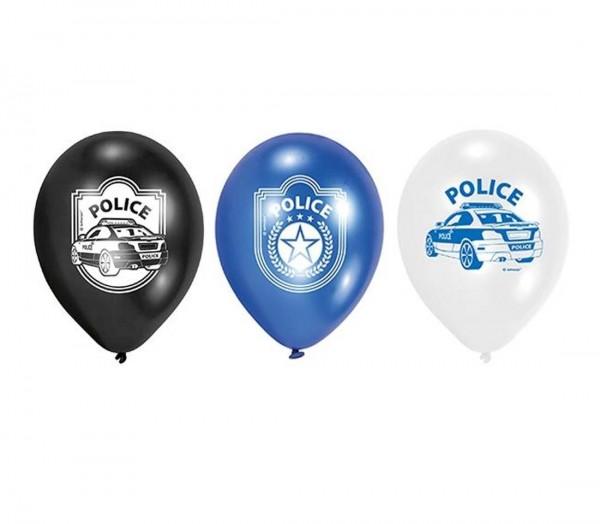 Luftballons für die Polizei Partydekoration