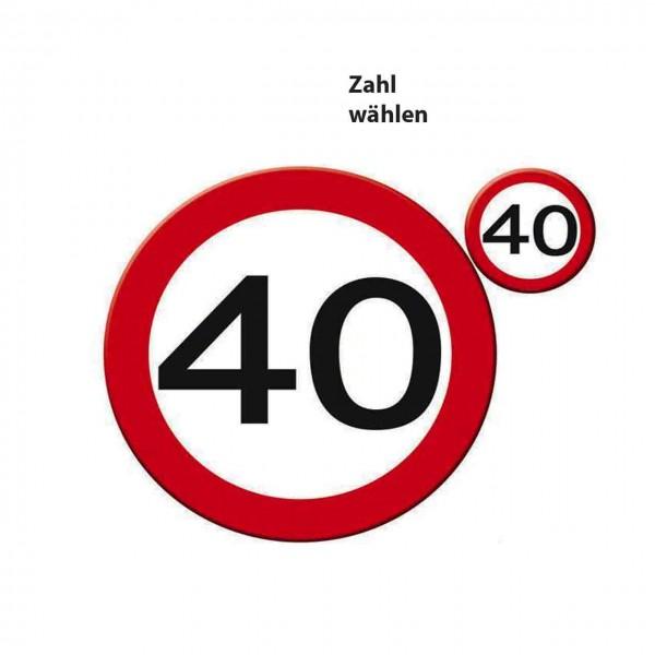 Platzset Verkehrsschild - Zahl wählen