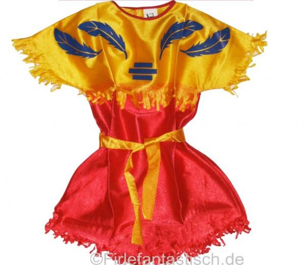 Indianerkleid rot/gelb