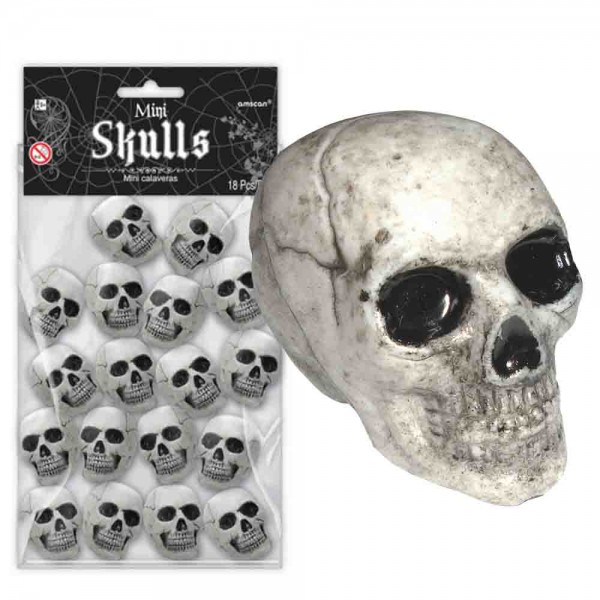 Mini-Totenköpfe 18 Stück