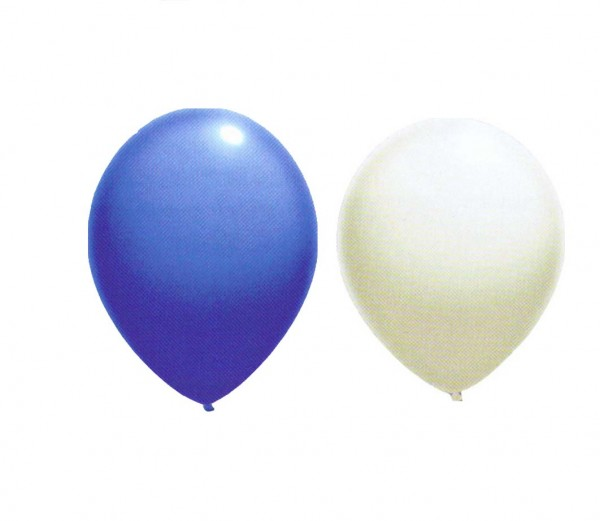Ballons Blau/Weiß
