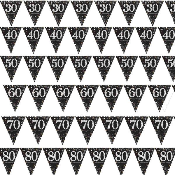 Tolle Wimpelkette für den 30. Geburtstag, 40. Geburtstag, 50. Geburtstag, 60. Geburtstag, 70. Geburtstag, 80. Geburtstag