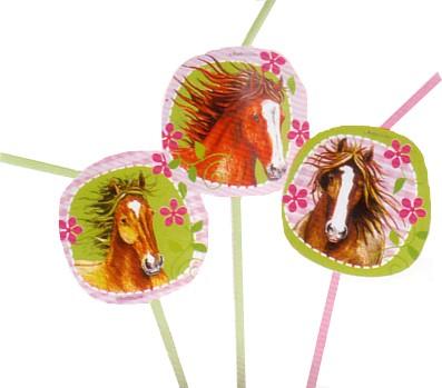 Pferdeparty-Trinkhalme