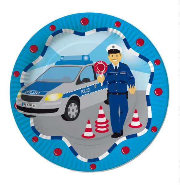 Polizei-Teller 8St.