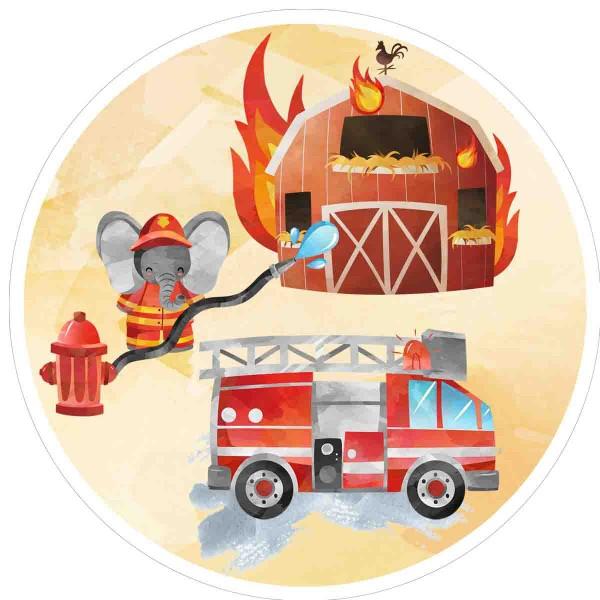 Tortenbild für den Feuerwehrkuchen
