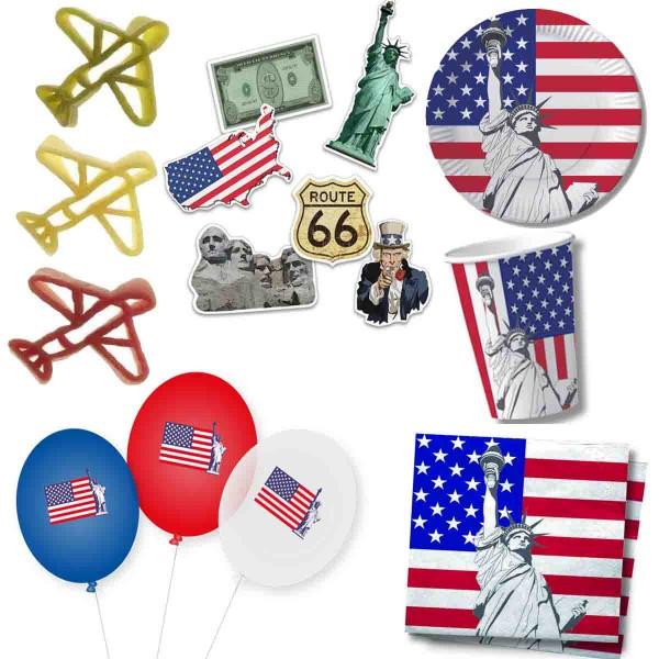 Tolles Partyset für die USA Party