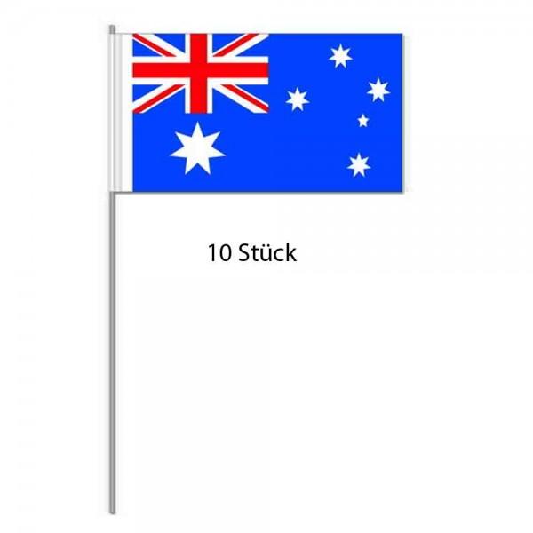 Papierflaggen Australien 10 Stück