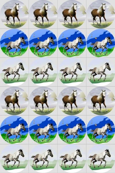 Muffinaufleger Pferde zum Selbstausschneiden