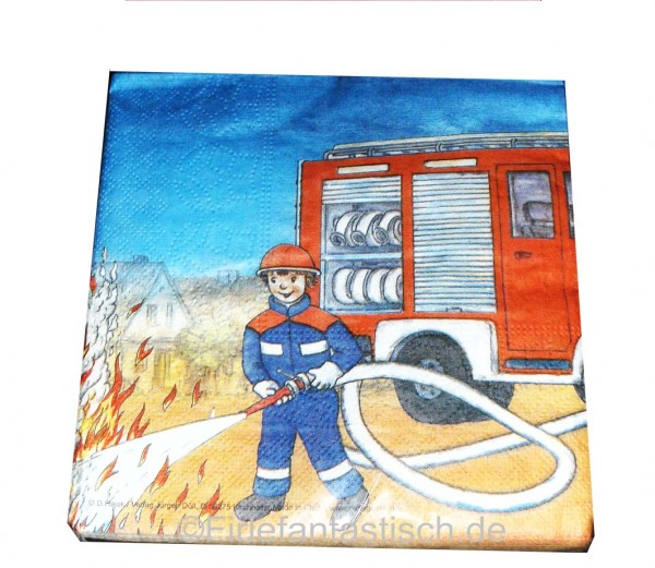 Feuerwehr-Servietten