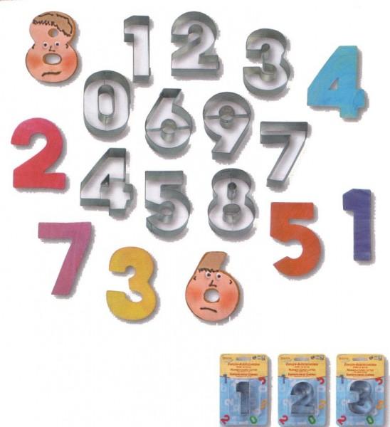 Keksausstecher Zahlen