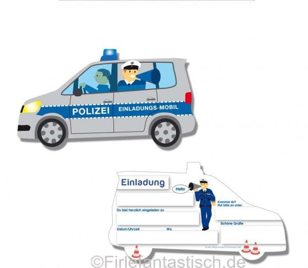 Einladungen für den Kindergeburtstag Polizei