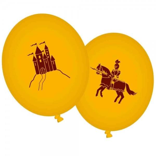 Luftballons Ritter und Schloss