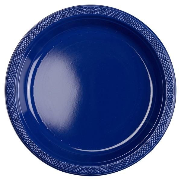 Blaue Partyteller Kunststoff 10St.