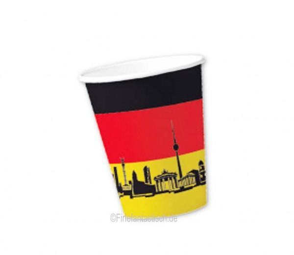 Deutschland-Becher 10St.