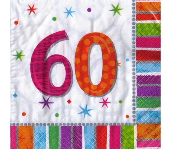 Servietten für den 60. Geburtstag