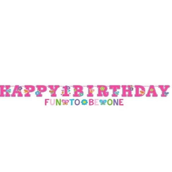 Happy Birthday Girlande 2-teilig