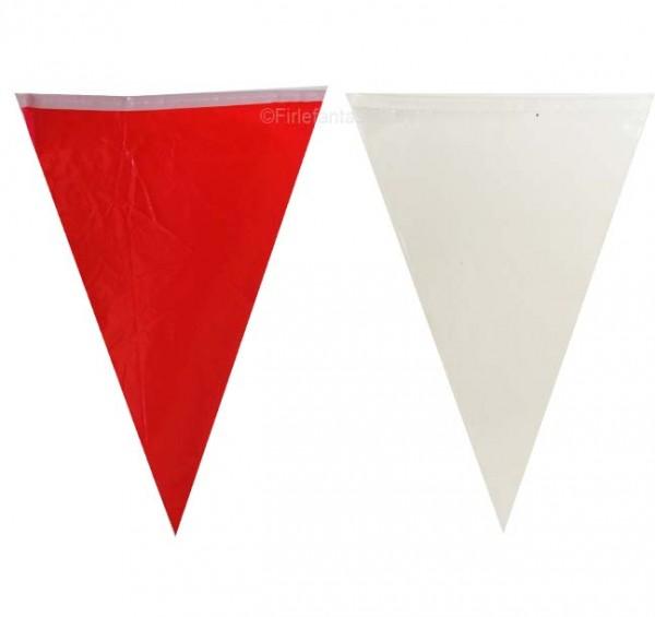 Wimpelkette Rot/Weiß