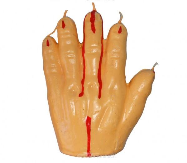 Kerze blutige Hand