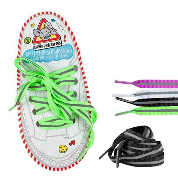 Reflektor-Schuhbänder 1 Paar