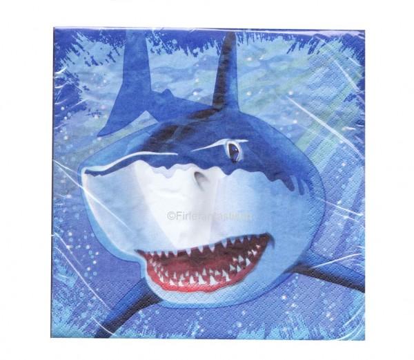 Servietten mit Hai für die Unterwasserparty