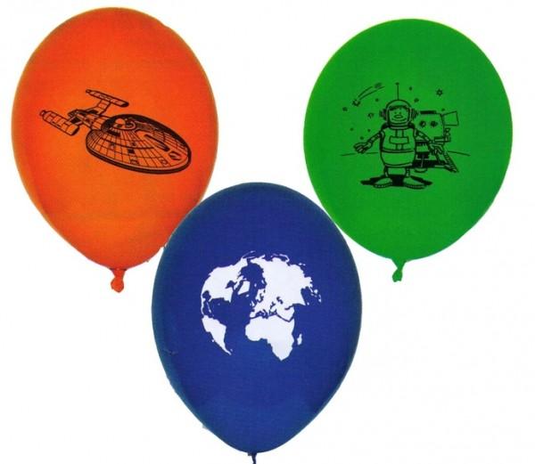 Luftballons für die Weltraumparty