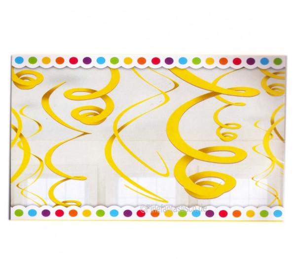 Für die gelbe Partydekoration