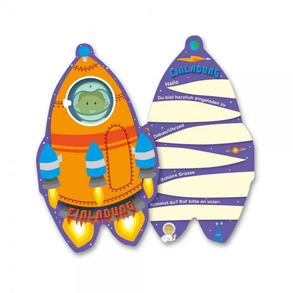 Weltraum-Einladungen Rakete