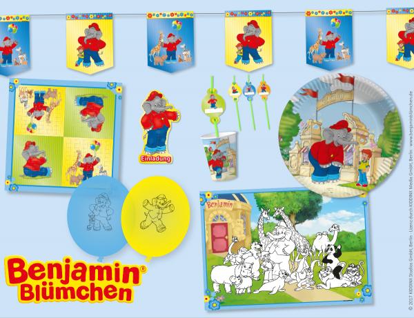 Umfangreiche Partybox für die Benjamin Blümchen Party
