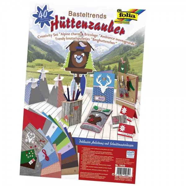 Basteltrends Hüttenzauber, 40-teilig Alpin Charme
