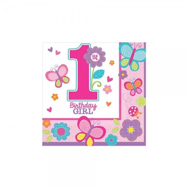 1.Geburtstag Mädchen Servietten