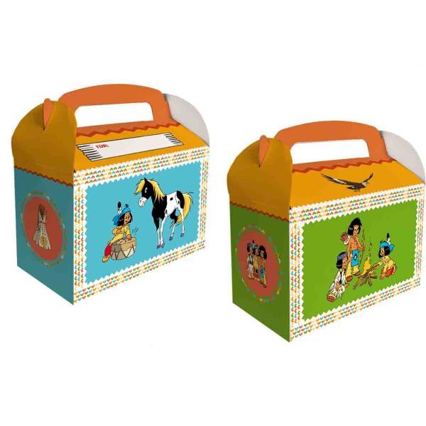 6 Indianer Yakari Geschenkboxen