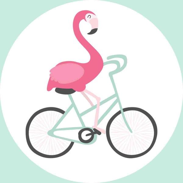 Essbarer Aufleger für den Flamingokuchen