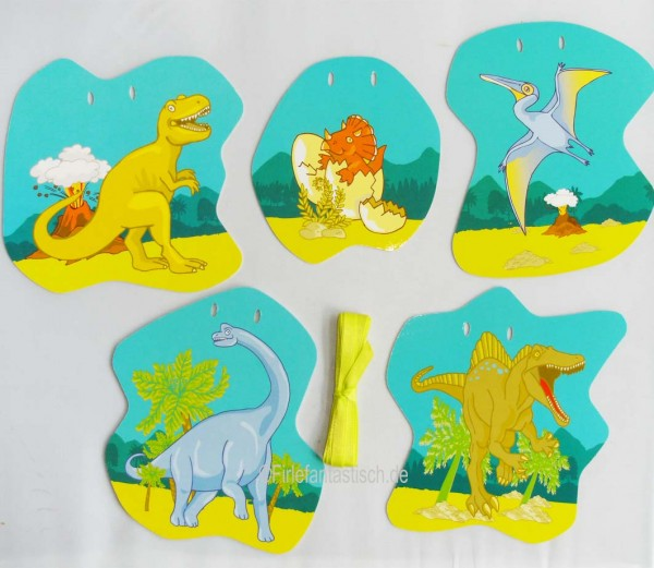 Dino-Girlande Figuren