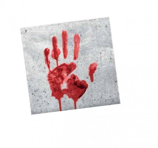 Blutige Hand-Servietten