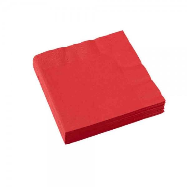 Rote Servietten für die Party, z.B. Feuerwehrparty