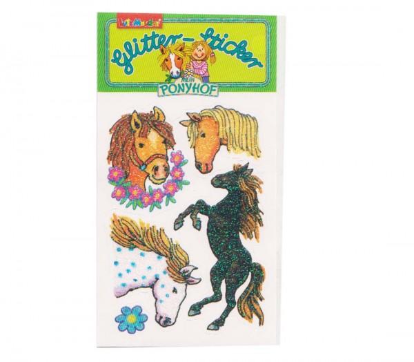 Pferde Glitter-Sticker Mein Ponyhof