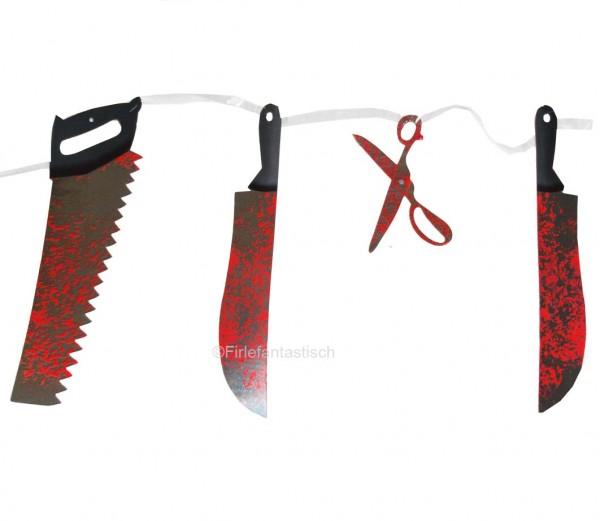 Girlande blutiges Werkzeug