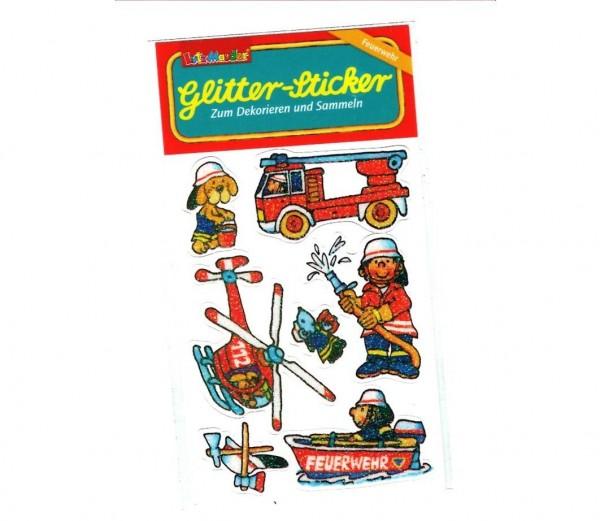 Glitter-Sticker Feuerwehr
