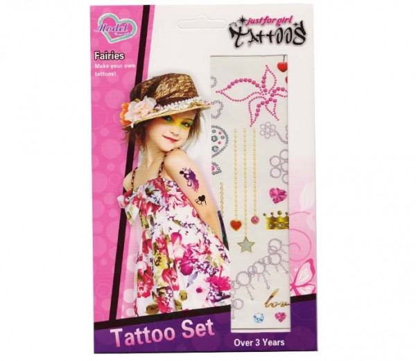 Tattoos-Set Mädchen