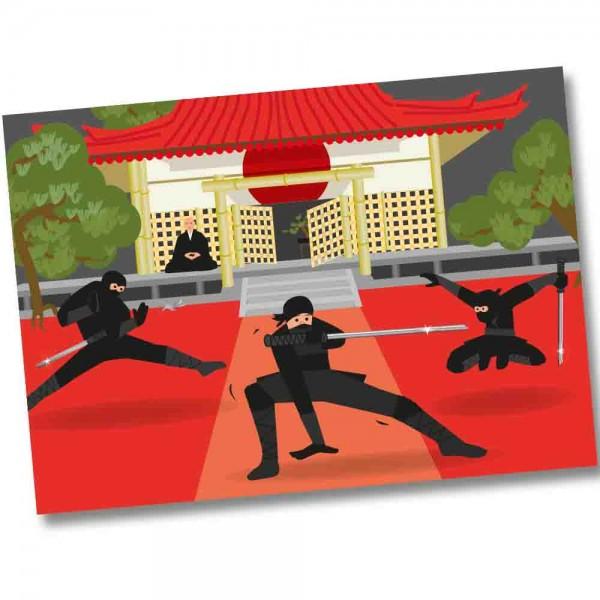 Ninja Kämpfer Tischset