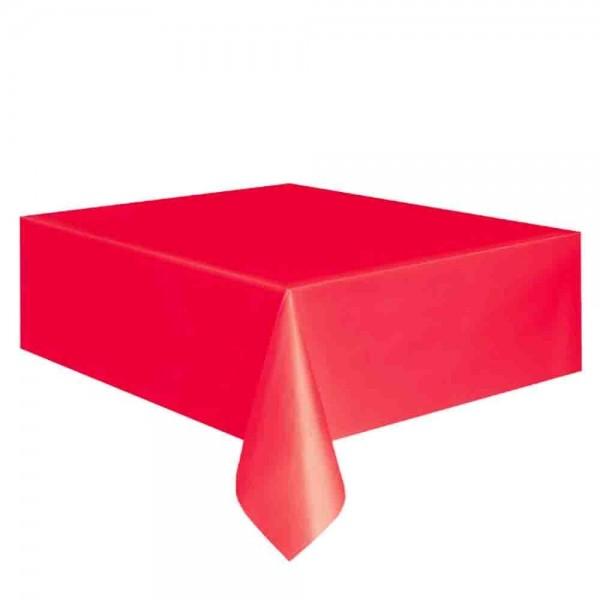 Kunststoff-Tischdecke Rot