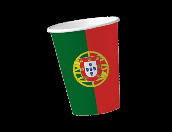 Partybecher für die Mottoparty Portugal