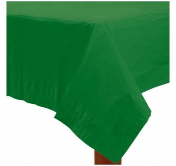 Grüne Tischdecke für die Partydekoration