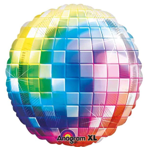 Große Diskokugel als Folienballon